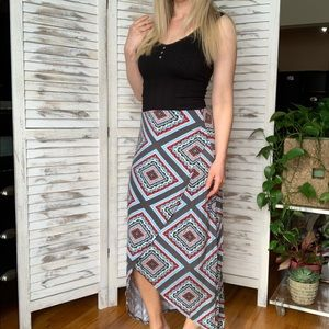 Anthropologie Maeve high low maxi skirt s small